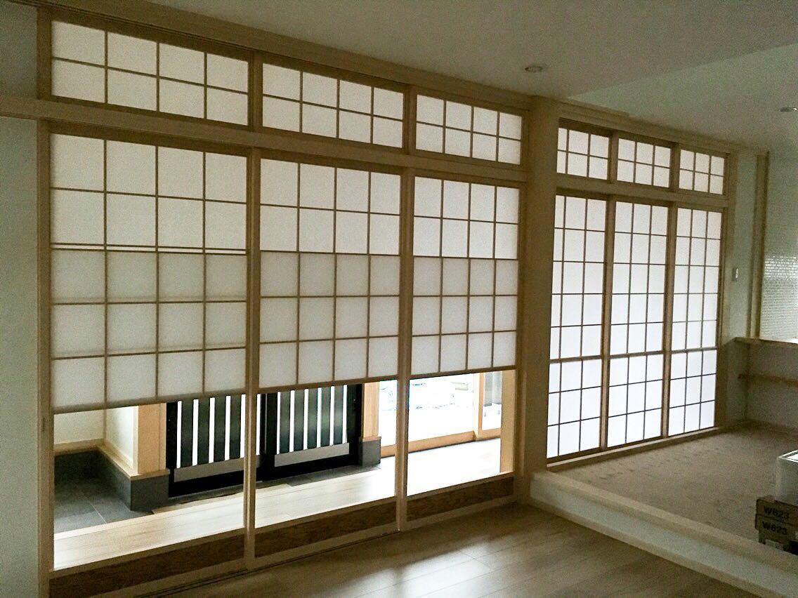 倉敷市水島モデルハウス/雪見障子 +ランマ障子