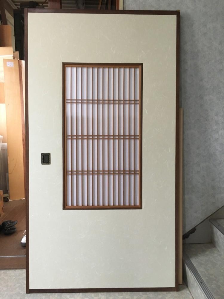 岡山市北区花尻個人様/源氏襖、雪見障子、戸襖貼り替え