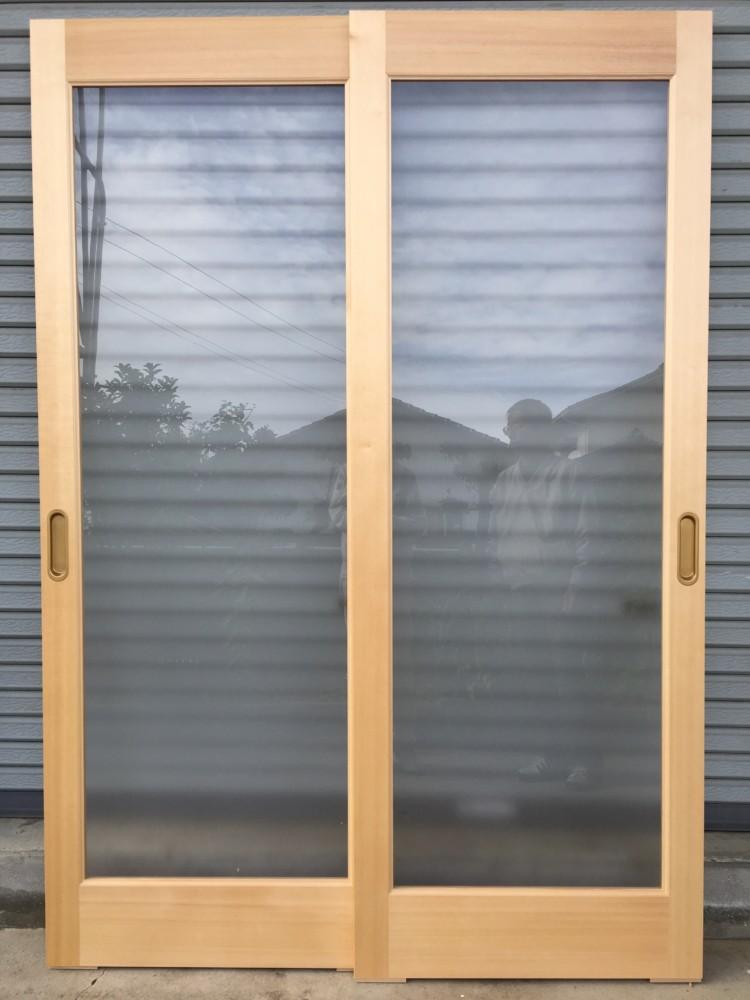 台所改装工事/ダイニング×パントリー引き違い框組ガラス戸