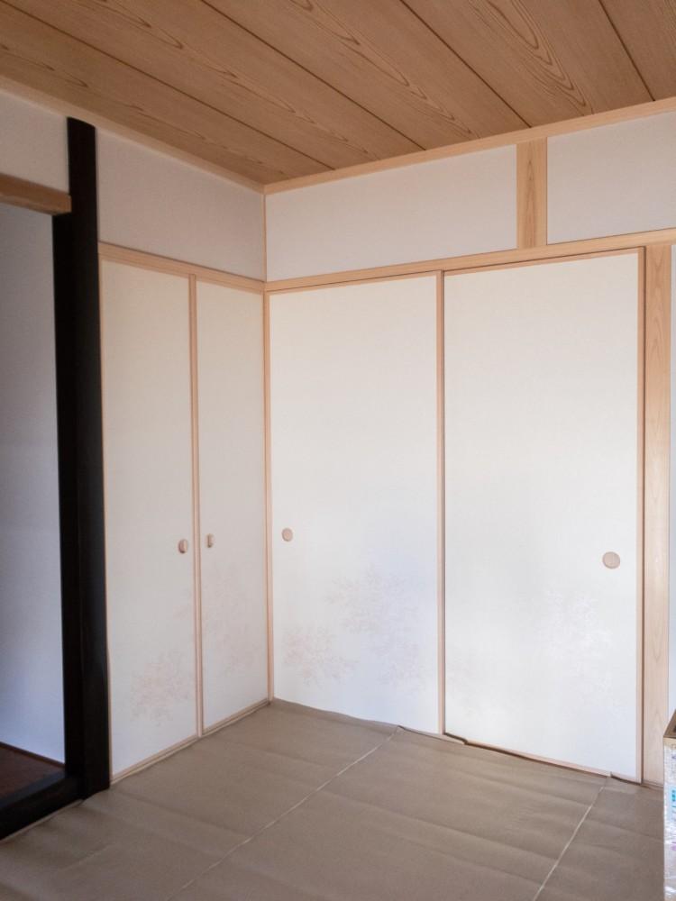 倉敷市日吉(ひよせ)町新築工事_和室建具(障子、襖、軸回し、戸襖)