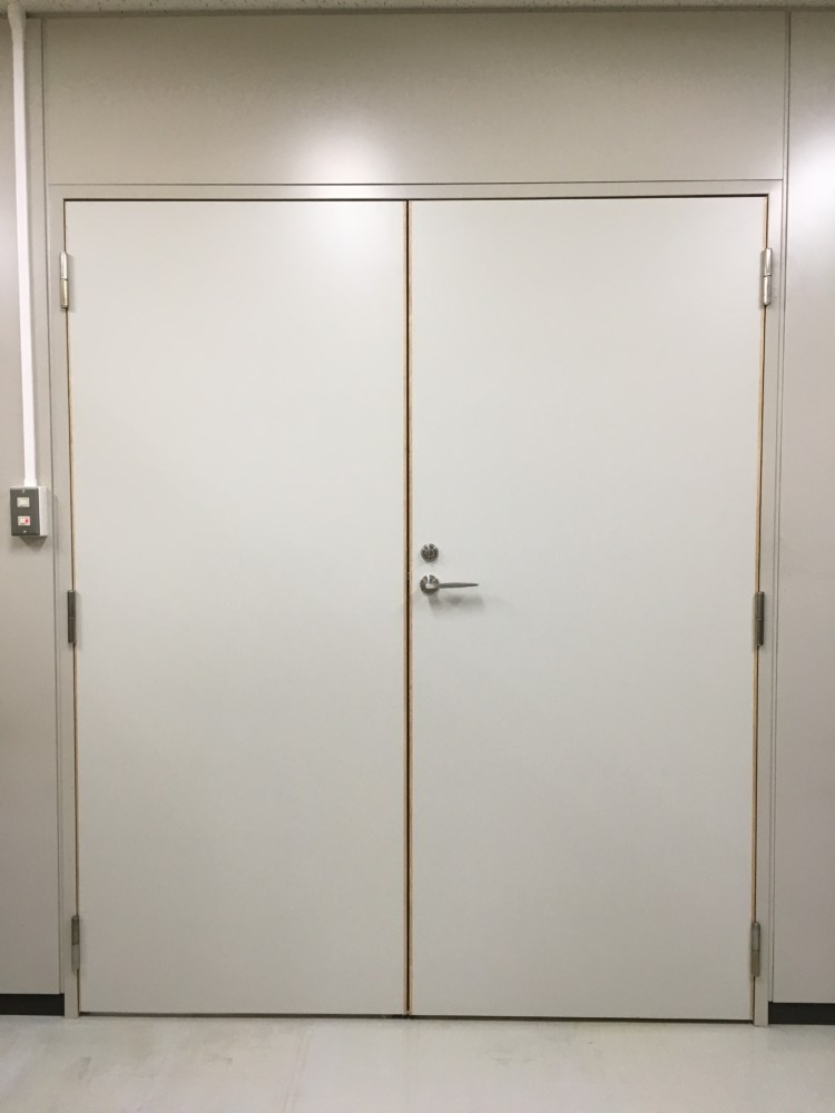 岡山市北区岡南町/リフォーム工事パソコンデスク棚,両開き扉