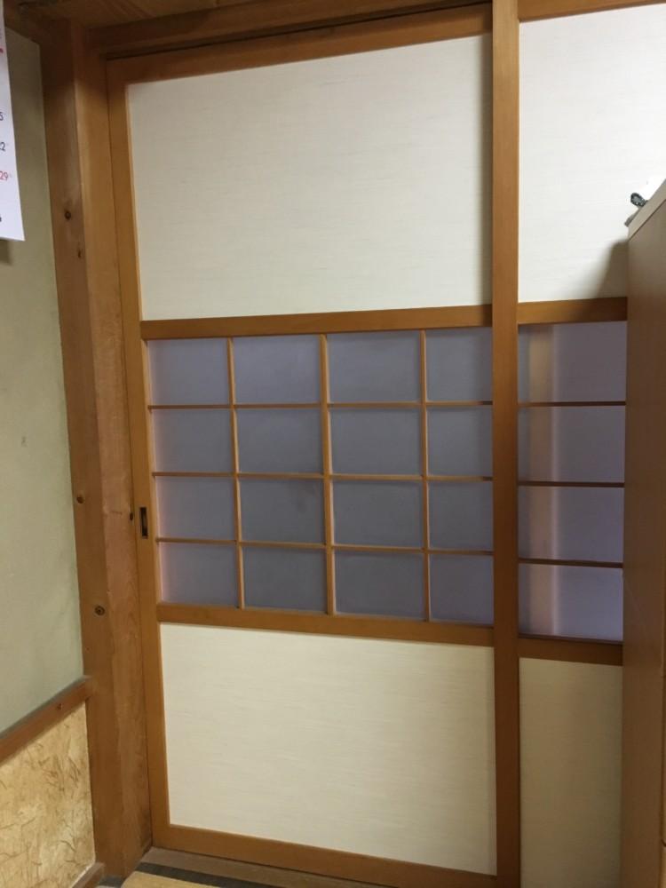 倉敷市連島町鶴新田/ガラス戸,襖,障子貼り替え