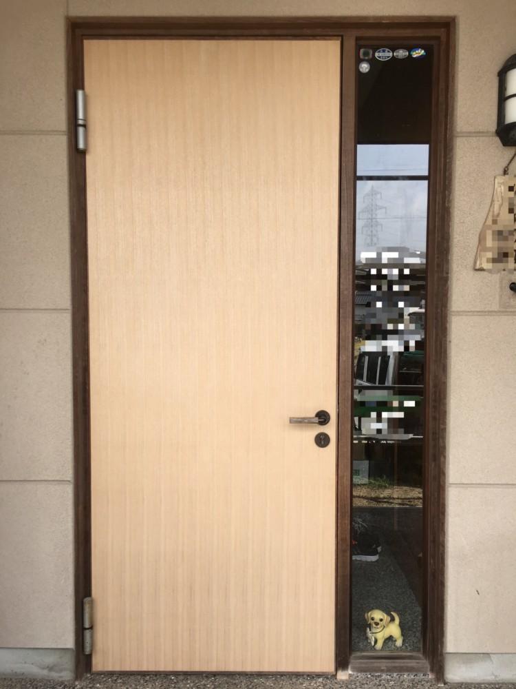 倉敷市船穂町/玄関ドア外部張替え
