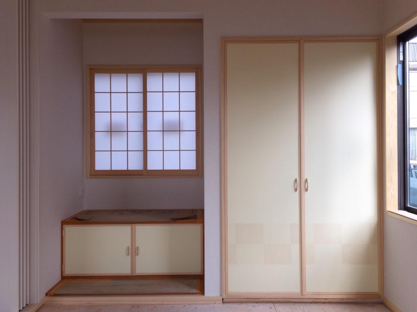 岡山市南区/新築工事(地袋&和室押入れ開き戸・障子新設)